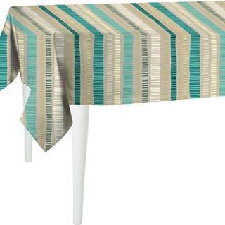 Béžový ubrus Mike & Co. NEW YORK Jungle Stripes,140x140cm
