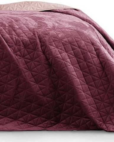 Fialovo-růžový přehoz přes postel AmeliaHome Laila Mauve, 220x240cm