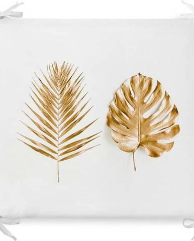 Podsedák s příměsí bavlny Minimalist Cushion Covers Golden Leaves,42x42cm