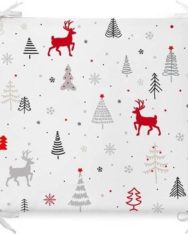 Vánoční podsedák s příměsí bavlny Minimalist Cushion Covers Nordic Holiday,42x42cm
