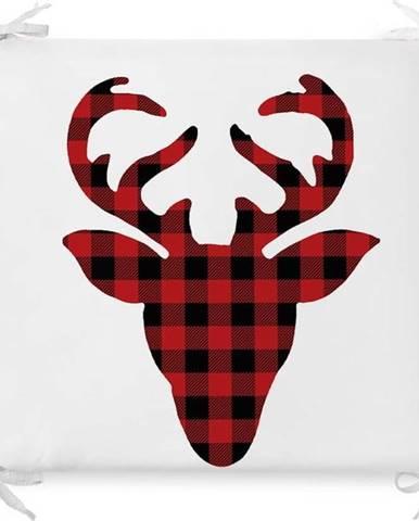 Vánoční podsedák s příměsí bavlny Minimalist Cushion Covers Rudolph,42x42cm