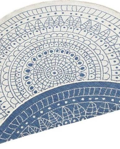Modrý venkovní koberec Bougari Porto, ø 200 cm