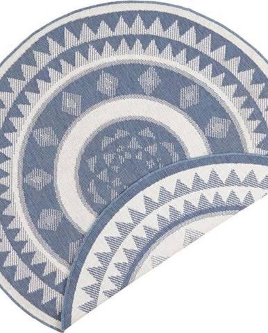 Modro-krémový venkovní koberec Bougari Jamaica, ⌀ 200 cm