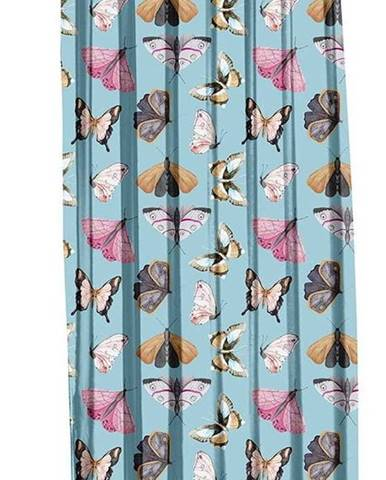 Modrý závěs Mike & Co. NEW YORK Butterflies,140x270cm
