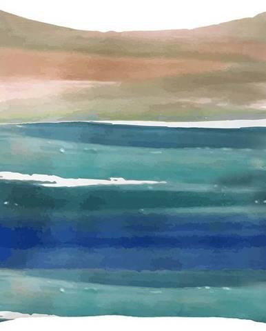 Modro-béžový povlak na polštář Mike & Co. NEW YORK Honey Coastal,43x43cm