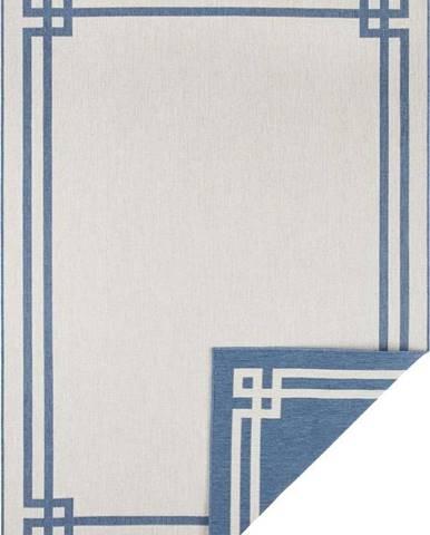 Modro-krémový venkovní koberec Bougari Manito, 160 x 230 cm