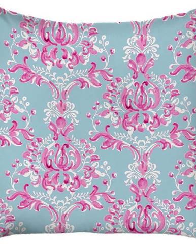Modro-růžový povlak na polštář Mike& Co. NEW YORK Butterflies,43x43cm