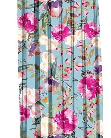 Modrý závěs Mike & Co. NEW YORK Butterflies Blossom,140x270cm