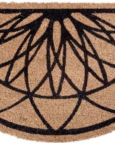 Hnědo-černá půlkruhová rohožka z kokosového vlákna PT LIVING Fairytale coir