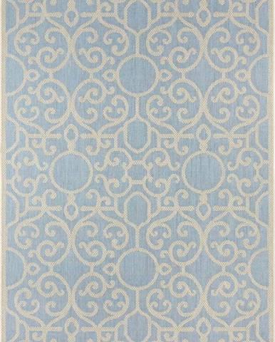 Modro-béžový venkovní koberec Bougari Nebo, 140 x 200 cm