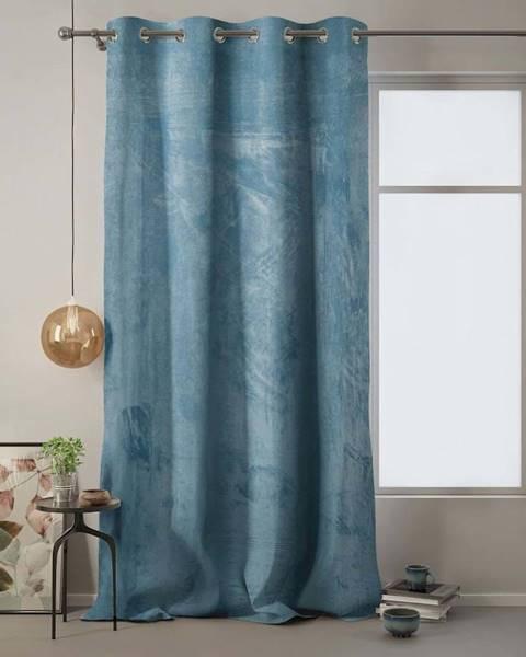 AmeliaHome Modrý závěs AmeliaHome Velvet, 140 x 270 cm