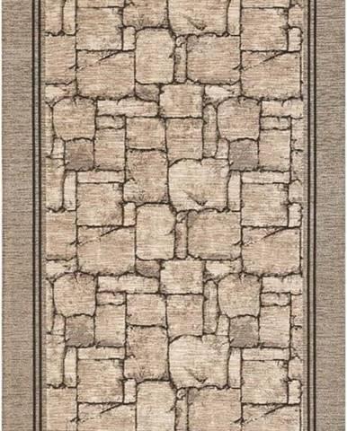 Béžový běhoun Floorita Wall, 55 x 190 cm