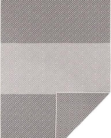 Černo-bilý oboustranný venkovní koberec Bougari Maui, 120 x 170 cm