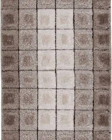 Hnědý koberec Flair Rugs Cube, 120 x 170 cm