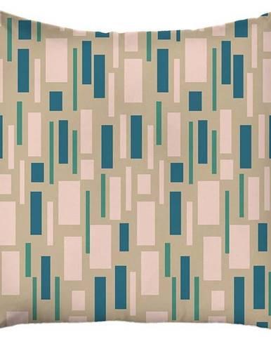 Modro-béžový povlak na polštář Mike & Co. NEW YORK Honey Beige,43x43cm