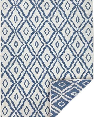 Modro-bílý venkovní koberec Bougari Rio, 120x 170 cm