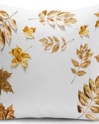 Povlak na polštář Minimalist Cushion Covers Golden Leaves,42x42cm
