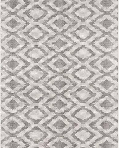 Šedo-krémový venkovní koberec Bougari Isle, 140x200cm