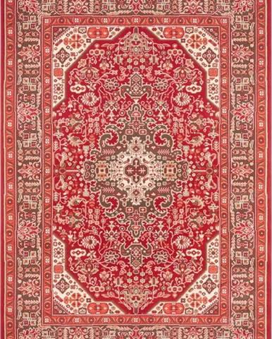 Světle červený koberec Nouristan Skazar Isfahan, 80 x 150 cm