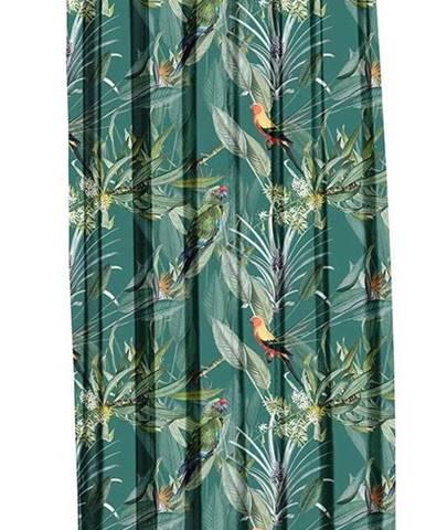 Zelený závěs Mike & Co. NEW YORK Jungle Birds,140x270cm
