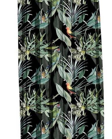 Černý závěs Mike & Co. NEW YORK Jungle Birds,140x270cm