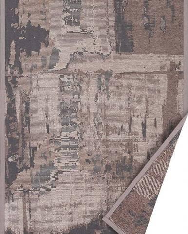 Hnědý oboustranný koberec Narma Nedrema, 80 x 250 cm