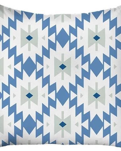 Modro-bílý povlak na polštář Mike & Co. NEW YORK Coastal Area,43 x43 cm