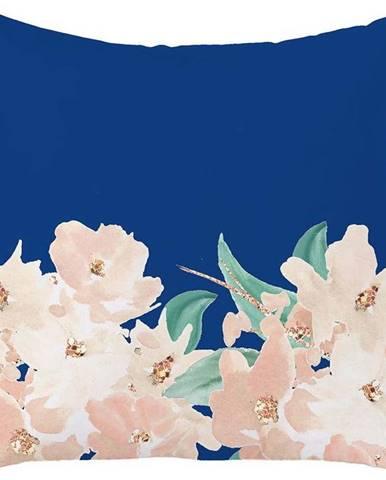 Modro-růžový povlak na polštář Mike & Co. NEW YORK Honey Roses,43x43cm