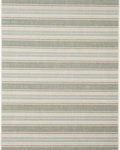 Béžovo-zelený venkovní koberec Floorita Riga, 135 x 190 cm