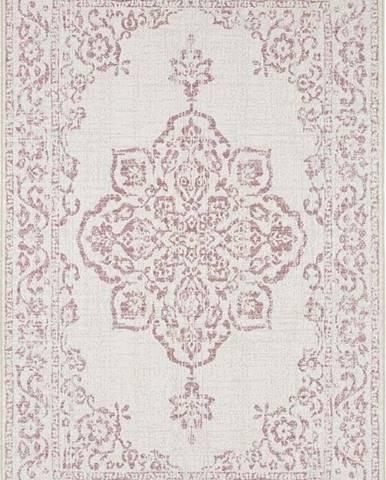 Červeno-krémový venkovní koberec Bougari Tilos, 120 x 170 cm