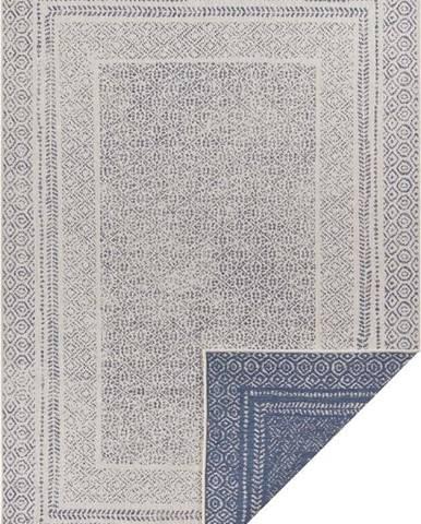 Modro-bílý venkovní koberec Ragami Berlin, 120 x 170 cm