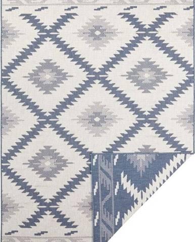 Modro-krémový venkovní koberec Bougari Malibu, 170 x 120 cm