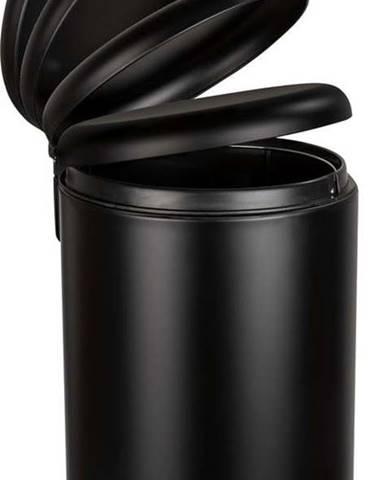 Černý odpadkový koš Wenko Leman Easy Close, 20 l