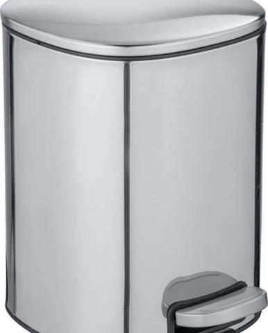 Odpadkový koš ve stříbrné barvě Wenko Alassio, 5 l