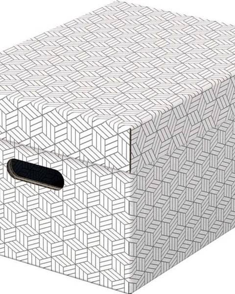 Esselte Home Sada 3 bílých úložných boxů Esselte Home,26,5x36,5cm