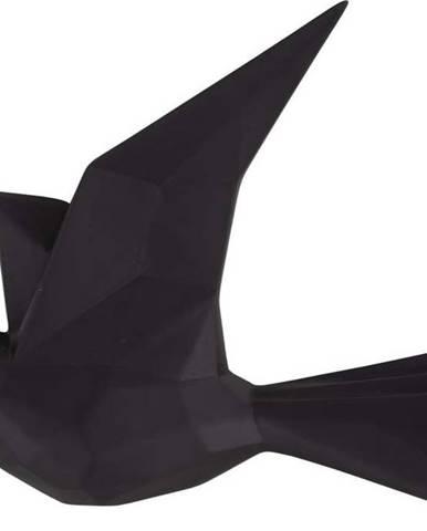 Černý nástěnný věšák ve tvaru ptáčka PT LIVING, šířka 19 cm