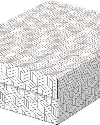 Sada 3 bílých úložných boxů Esselte Home,26,5x36cm