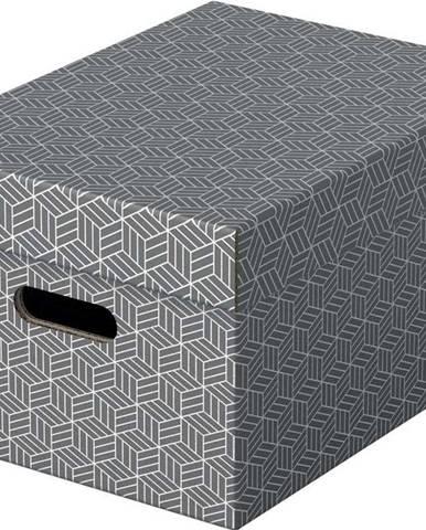 Sada 3 šedých úložných boxů Esselte Home,26,5x36,5cm