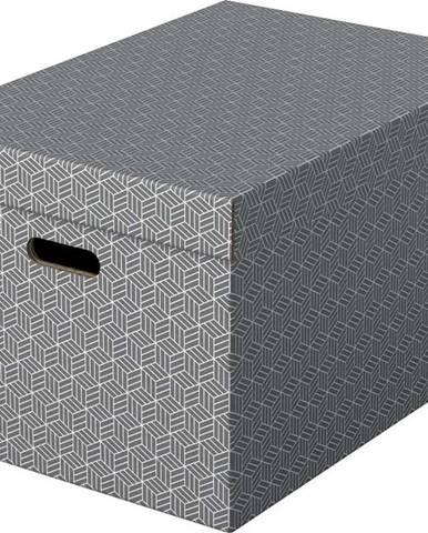 Sada 3 šedých úložných boxů Esselte Home,35,5x51cm