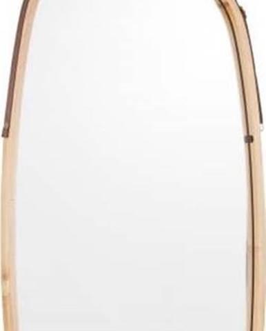 Nástěnné zrcadlo v bambusovém rámu PT LIVING Idylic, délka 74cm