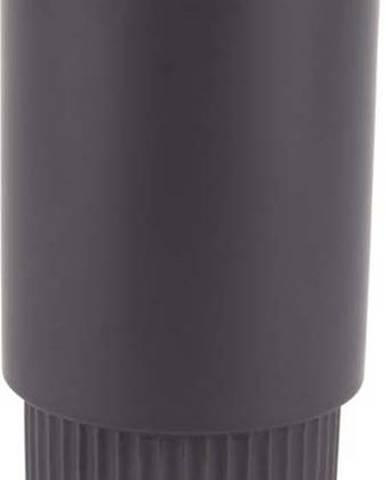 Černý keramický květináč PT LIVING Ribbed, výška 26 cm
