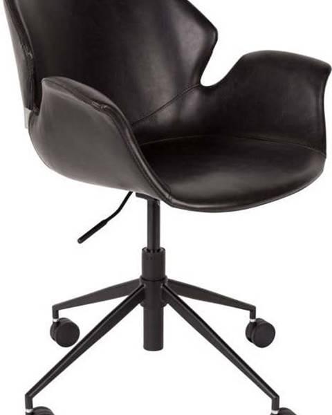 Zuiver Černá kancelářská židle Zuiver Office Chair Nikki