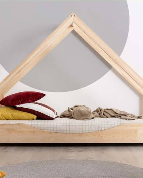 Adeko Domečková dětská postel z borovicového dřeva Adeko Loca Elin,90x200cm