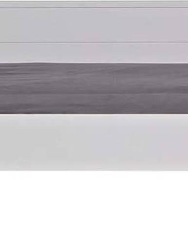 Bílá postel/sofa Jade WOOOD 90x200cm