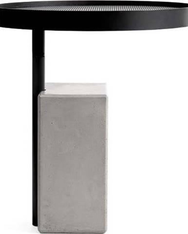 Odkládací stolek s betonovou základnou Lyon Béton Twist, ø 45 cm