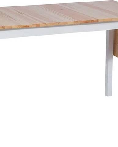 Borovicový rozkládací jídelní stůl s bílou konstrukcí loomi.design Brisbane, 120