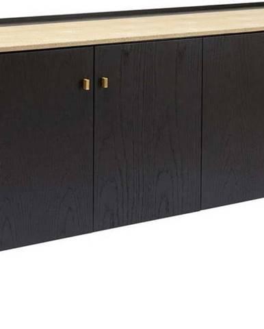 Černá komoda zdubového dřeva Kare Design Milano, šířka180cm