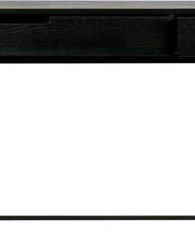 Černý konzolový stolek zdubového dřeva WOOOD Silas