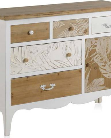 Dřevěná komoda s 6 zásuvkami Geese Emma