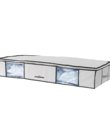 Sada 2 bílých úložných boxů pod postel s vakuovým obalem Compactor XLarge Underbed Life, 105 x 15,5 cm